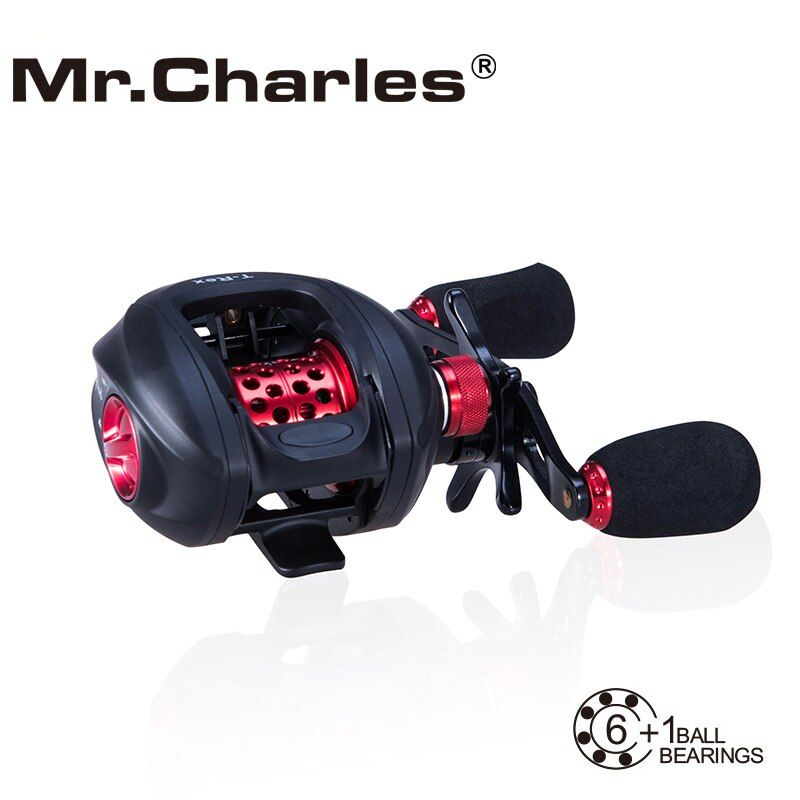 MR.Charles NBC 6BB+RB T-REX Baitcasting Reel Left/Right Hand Bait Casting Fishing Reel Bearing Baitcasting Fihsing Reels
