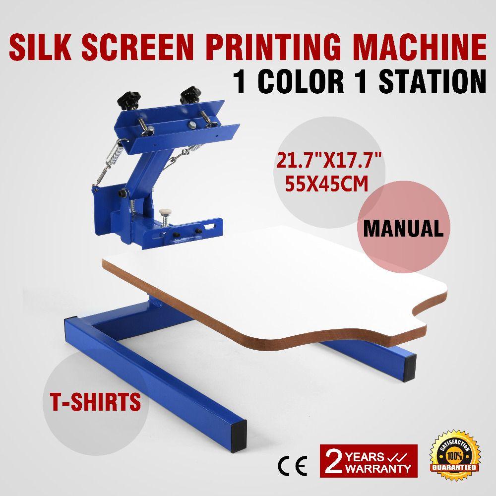 1 color 1 station Screen Printing Machine DIY T-Shirt Press Printer in germany supermarket