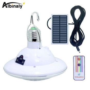 Albinaly Étanche 22 LED Solaire Lumière Extérieure Jardin Lumière Solaire Alimenté Cour Randonnée Tente de Camping Lampe Suspendue Télécommande