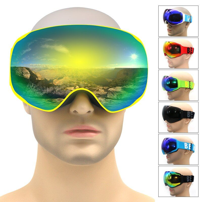 Professionelle marke skibrillen doppel-objektiv anti-fog UV400 schneebrille ski snowboard brillen männer frauen winter brille maske für