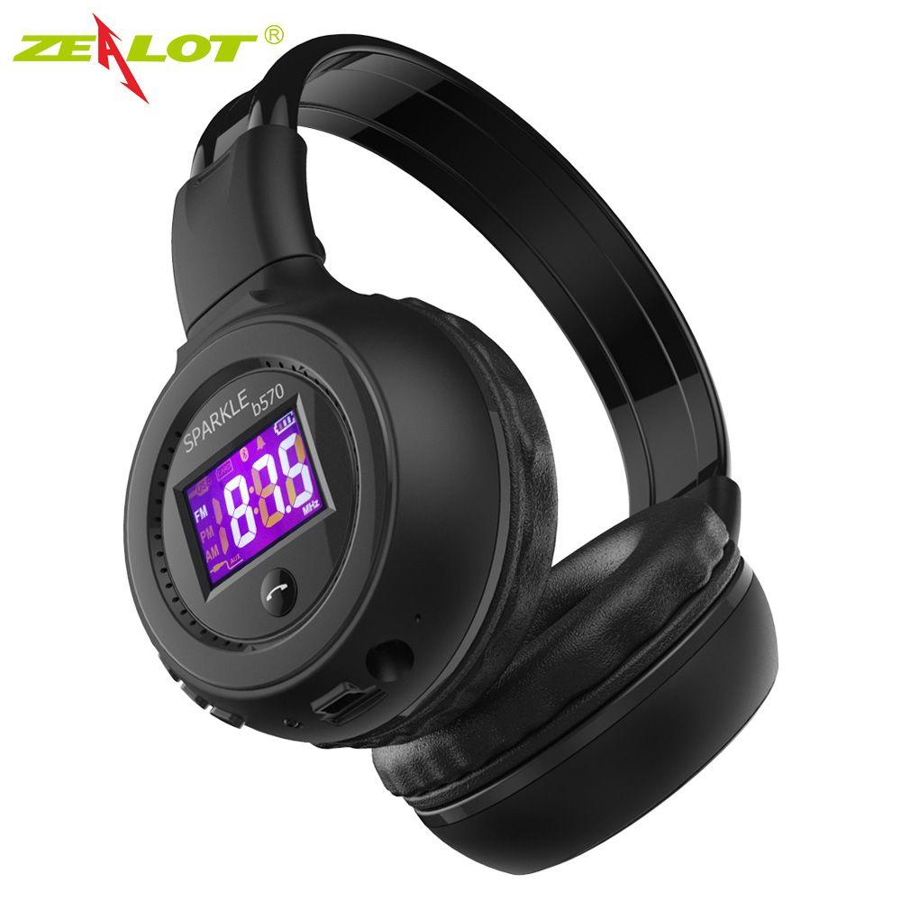 ZEALOT B570 casque Bluetooth avec Radio FM écran LCD stéréo sans fil écouteurs casque pour téléphones ordinateur Support carte TF