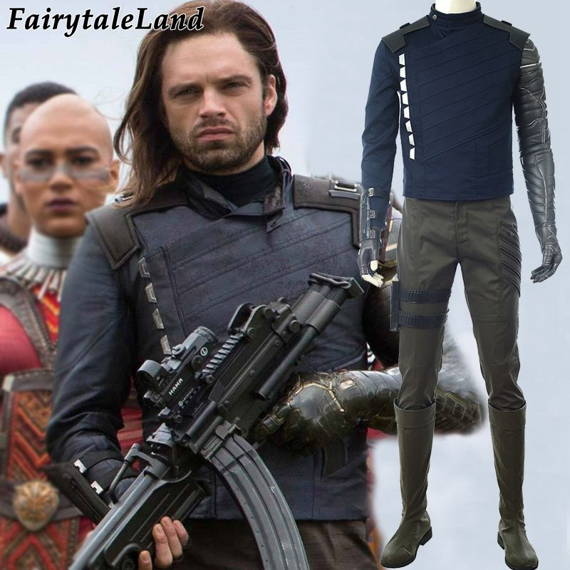 Avengers Infinity War Bucky Barnes Winter Soldier Cosplay Costume Halloween costumes Superhero Cosplay Winter Soldier Costume