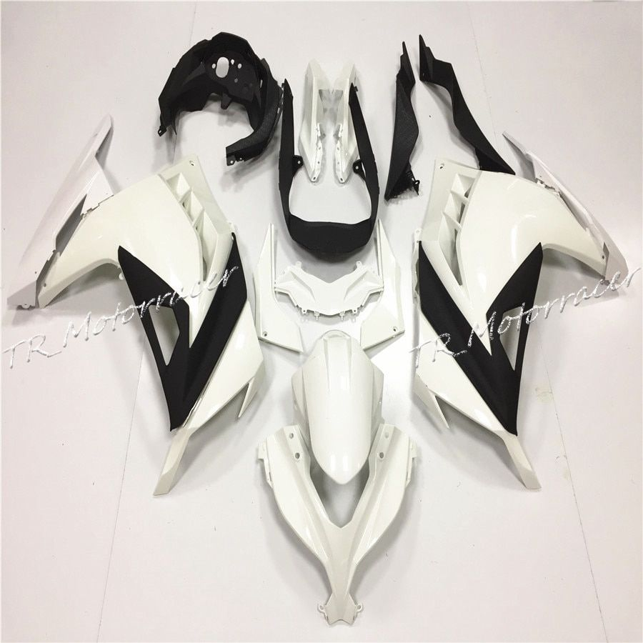 ABS Unpainted Injection Fairing Bodywork Set For Kawasaki Ninja 300 ZX300 2013 Motorcycle Parts White