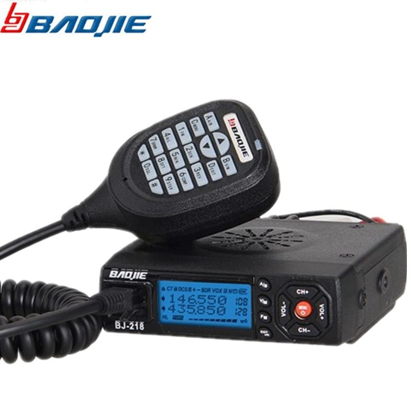 Baojie BJ-218 Car Mini Mobile Radio Transceiver 25W VHF/UHF BJ 218 Vericle Car base Radio Sister KT8900 KT-8900R UV-25HX