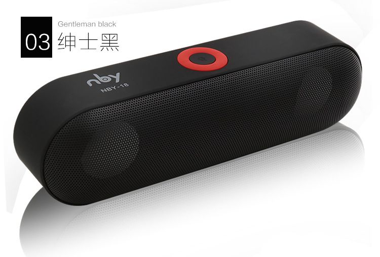 New NBY-18 Mini Bluetooth Speaker Portable Wireless Speaker <font><b>Sound</b></font> System 3D Stereo Music Surround Support Bluetooth