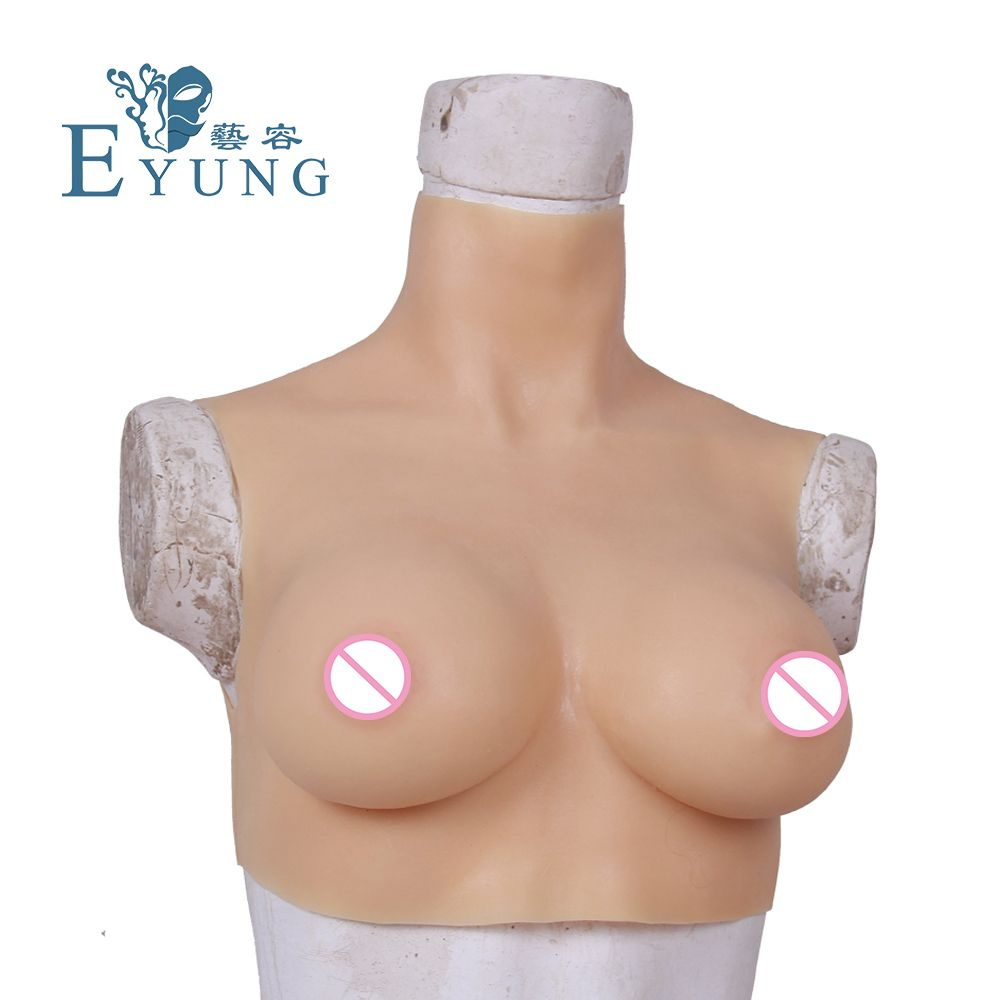 70C CUP breast form for crossdresser Realistic touch Feeling Adhesive Silicone False Boob Crossdressing Breast enhancer shemale