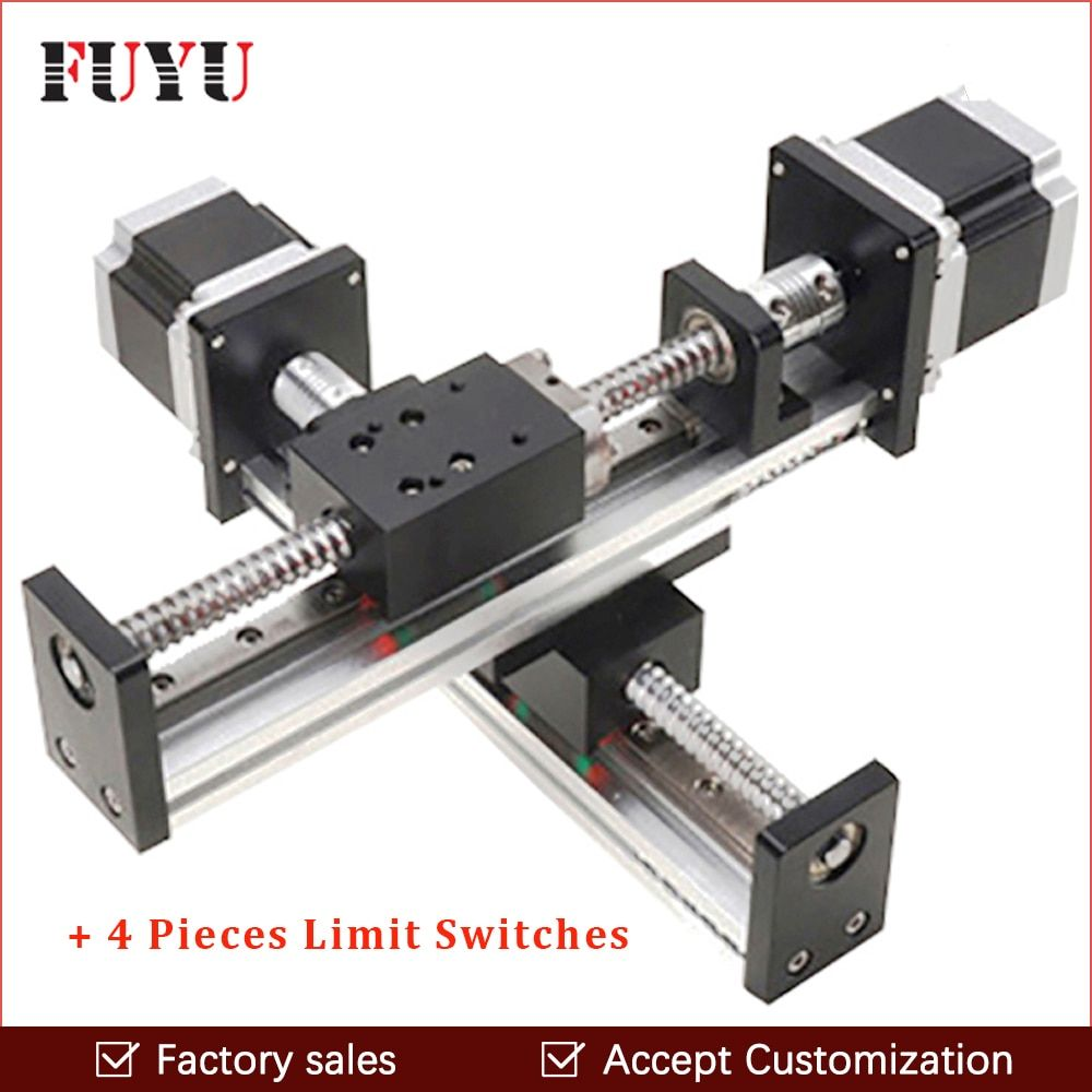 FLS40 Robotic arm rod ball screw linear rail guide slide table actuator for cnc XY motion module parts motorized router kits