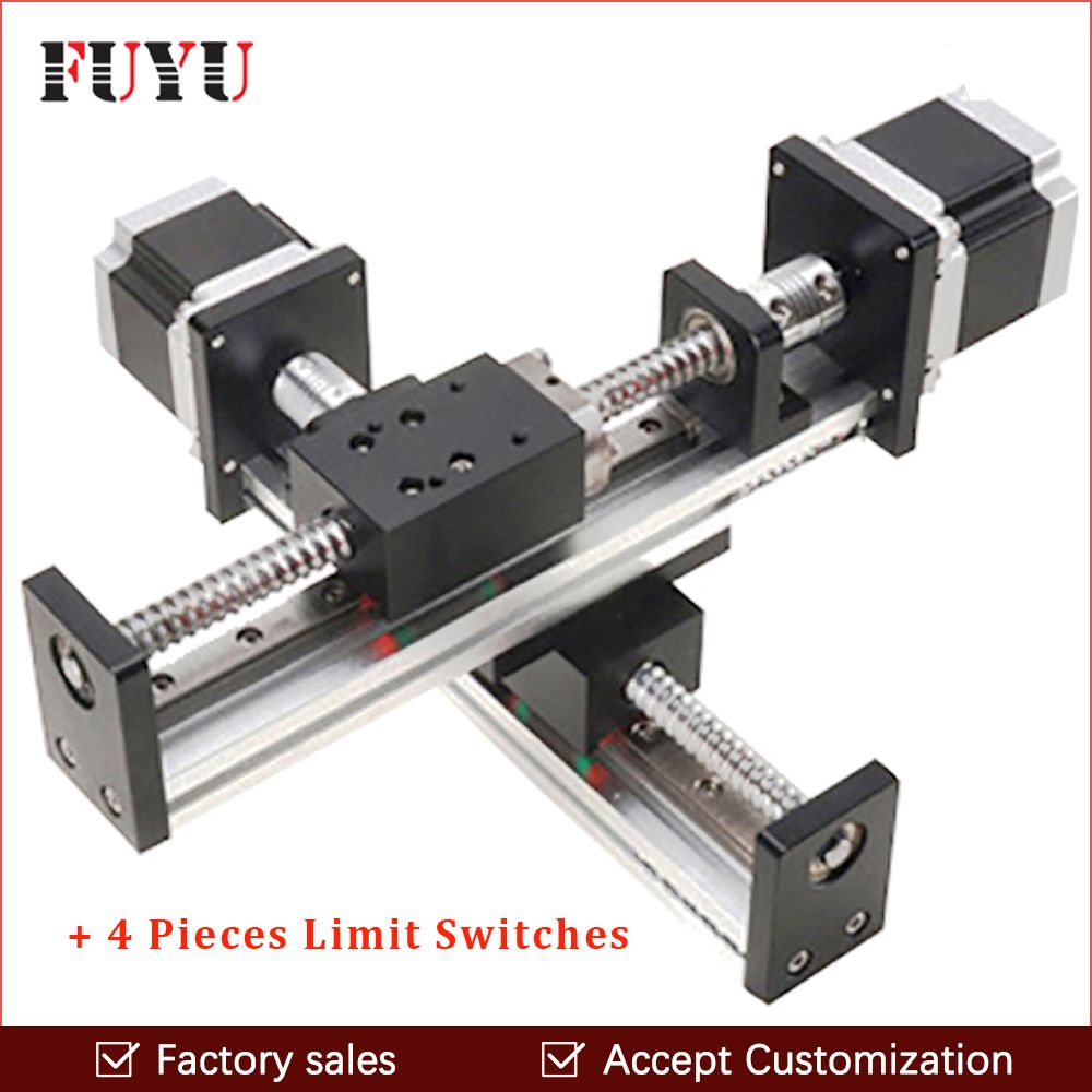 Robotic arm stange ball schraube linear schiene führen rutsche tisch antrieb für cnc 300*300mm XY motion modul teile motorisierte router kits
