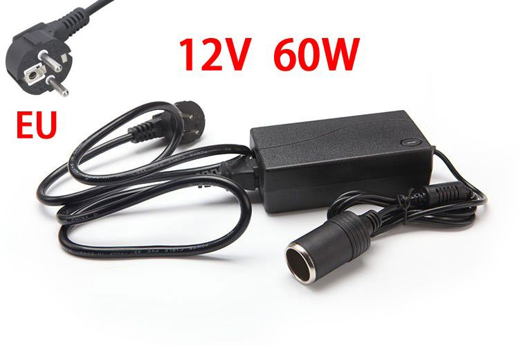 60W AC 100V-240V 100V 220V to DC 12V Car Cigarette Lighter AC/ DC Power Converter Adapter Inverter DC Power Supply Transformer