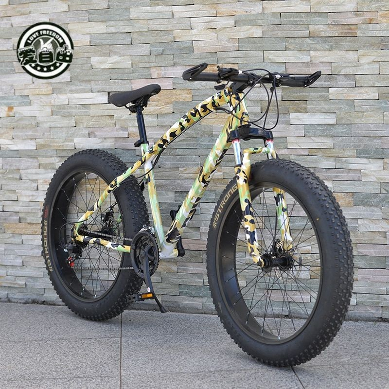 Love Freedom High Quality Bicycle 21 Speed Mountain Bike 26 Inch 4.0 Fat Tire Snow Bike Double disc Shock Absorbing Bicycle