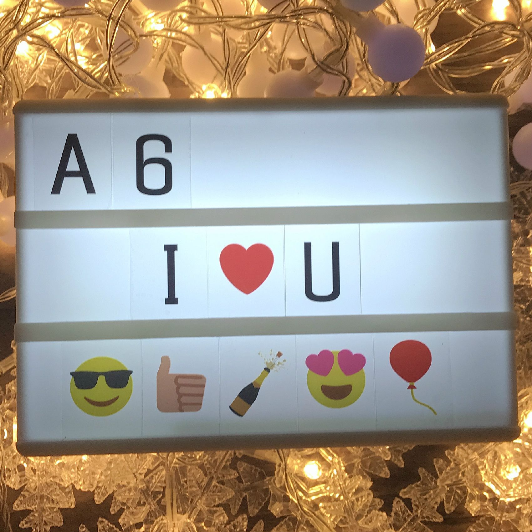 DIY LED Lightbox LED Night Light Box Modern Table Desk Cinematic Lamp A3/A4/A5/A6 Size Letters Number Battery USB Decor IY303206