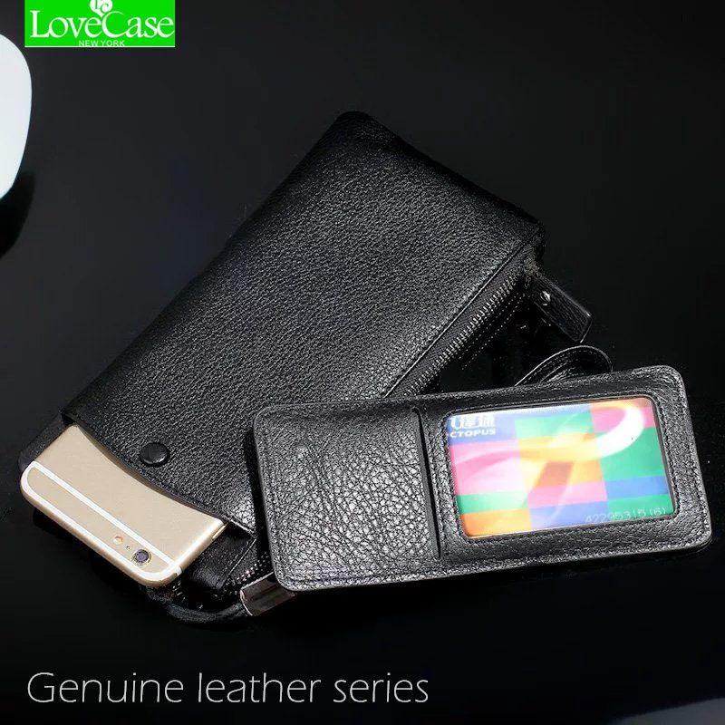 100% Genuine leather phone bag Universal 1.0