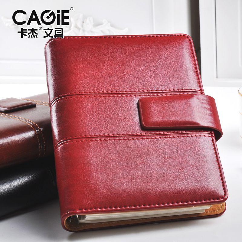 CAGIE Vintage Leather Notebook a5 Spiral Filofax Journal <font><b>Calendar</b></font> 2018 a6 Notebook Planner Binder Diary Retro Agenda Organizer