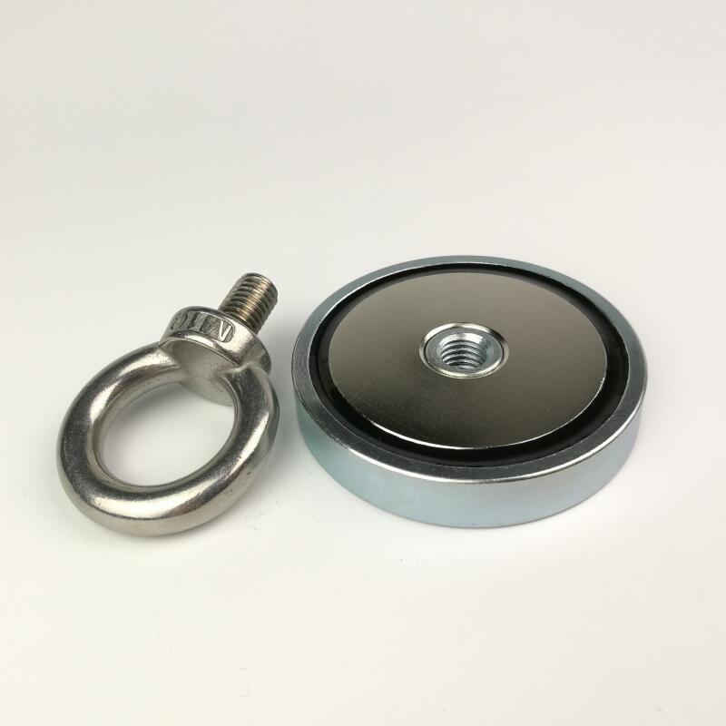 1 pièces D67mm néodyme recherche aimant pot avec un boulon à œil récupération pêche aimant luminaire antenne magnétique bases de montage