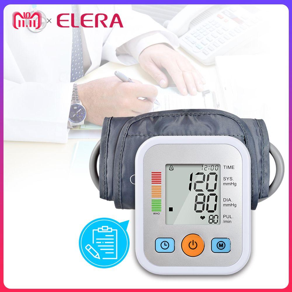 ELERA Home Health Care Digital Blood Pressure Monitor Portable Meter Machine sphygmomanometer Tonometer for Measuring Automatic
