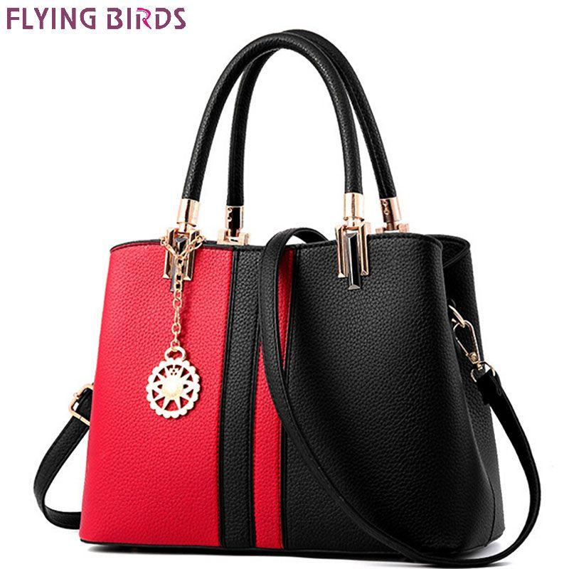 FLYING BIRDS fashion Women handbag designer women bags brands high quality shoulder bag patchwork ladies tote bolsas LM4140fb