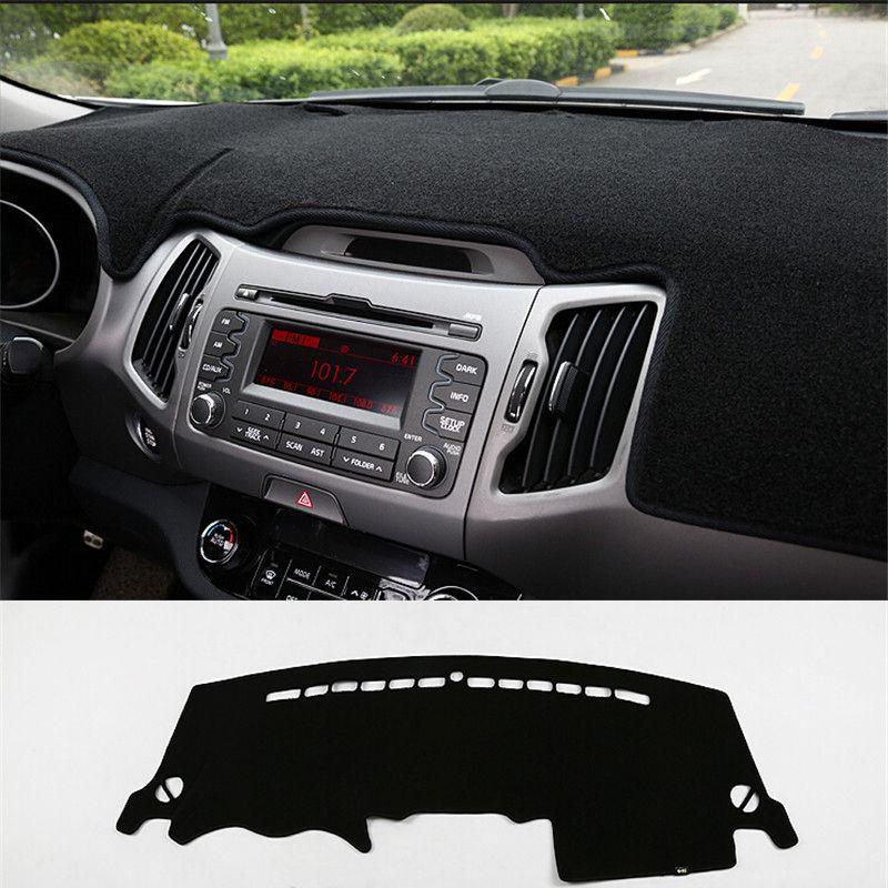 Pour Kia Sportage R 2011-2015 voiture tableau de bord Pad Instrument plate-forme bureau éviter lumière tapis autocollant voiture style 1 Pc