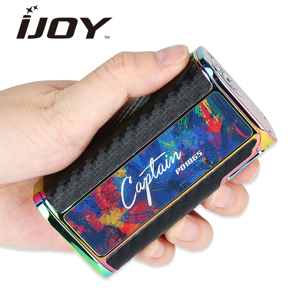 Original 225W IJOY Captain PD1865 TC MOD 0.96-inch OLED Screen fit RDTA 5S / Wondervape RDA E Cigs Captain PD1865 TC box Mod