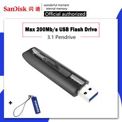 SanDisk Flashdisk 128 GB 64 GB Kecepatan Tinggi Hingga 200M USB Flash Drive 64 128 GB Pen Drive 3.1 USB Stick Disk Kunci Memori untuk Ponsel