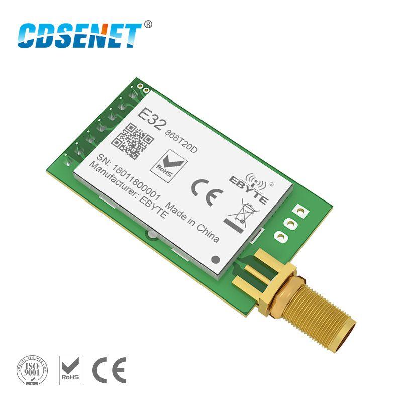 1 pc 868 MHz LoRa SX1276 rf Émetteur Récepteur Sans Fil rf Module CDSENET E32-868T20D UART Longue Portée 868 mhz rf émetteur-récepteur
