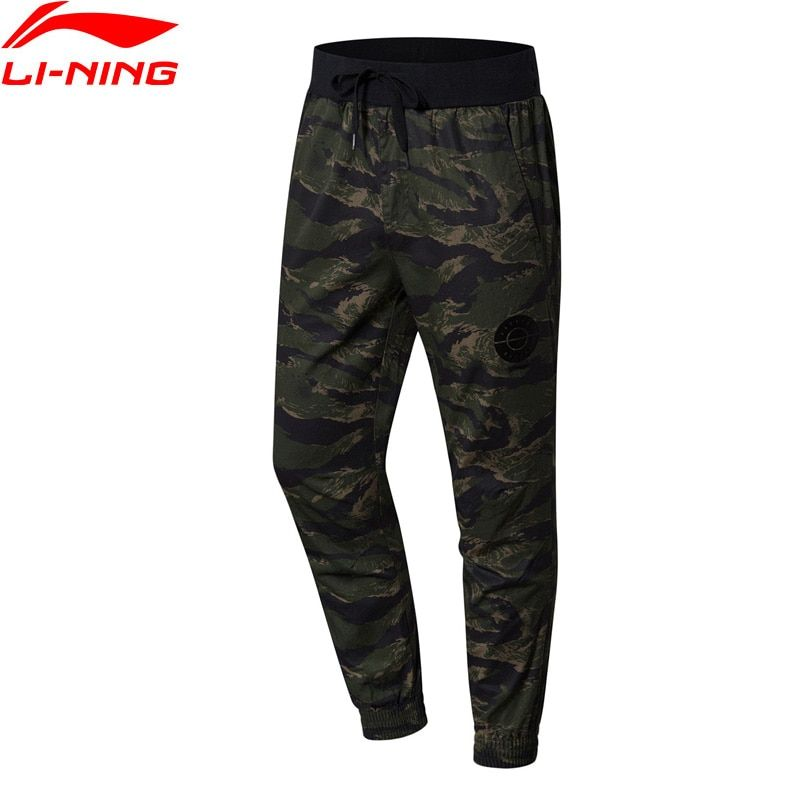 Li-Ning Men BAD FIVE Basketball Series Sweat Pants Regular Fit 100% Cotton LiNing Comfort Sport Pants AKXN091 MKY395