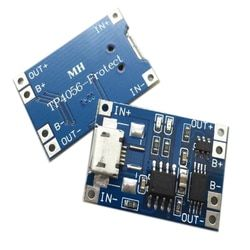 2pcs Micro USB Lithium Battery Charger Module 1A Micro USB 5V 18650 TP4056 Lithium Battery Charging Module and Protection Board