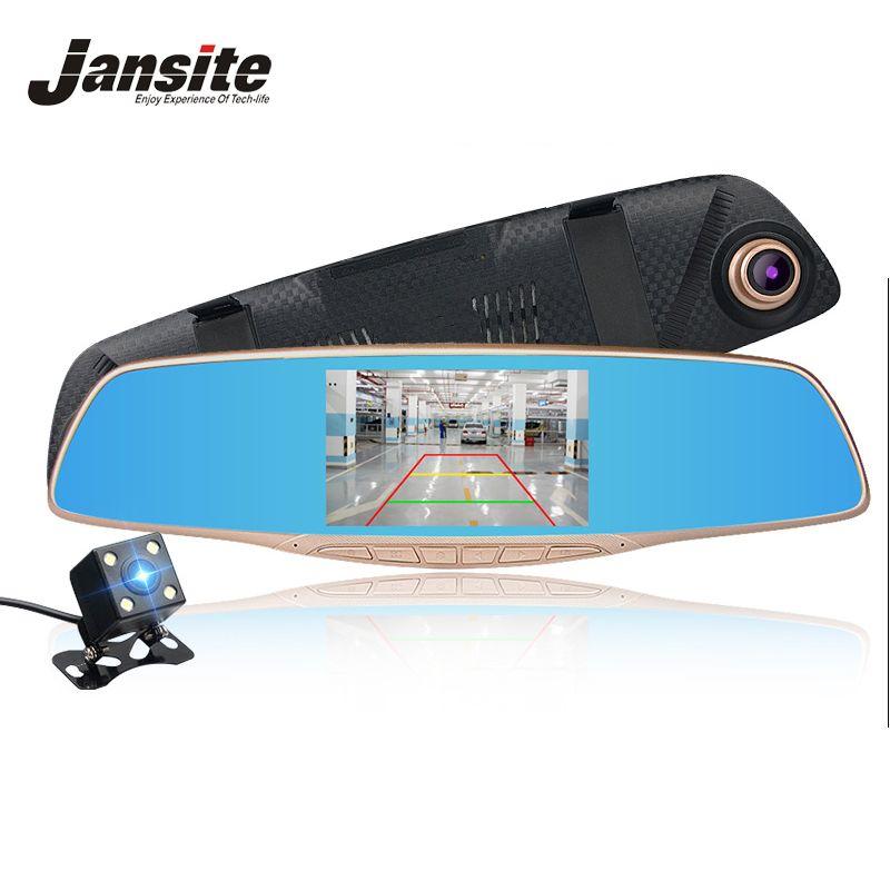 Jansite Voiture DVR Caméra Examen Miroir FHD 1080 P Enregistreur Vidéo nuit Vision Dash Cam Parking Moniteur Auto Greffier Double Lentille DVR