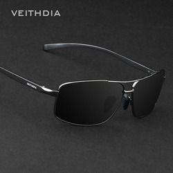 Veithdia los hombres polarizados a estrenar de Gafas de sol aluminio Sol Gafas gafas Accesorios para hombres oculos de sol masculino 2458