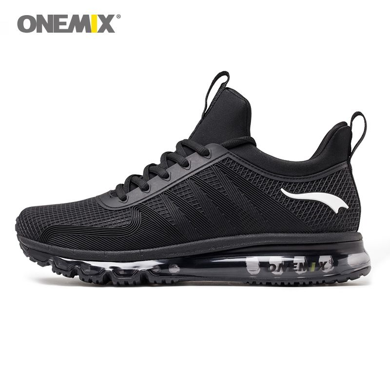 Onemix high top men running shoes shock absorption sports sneaker breathable light sneaker for outdoor walking jogging shoes