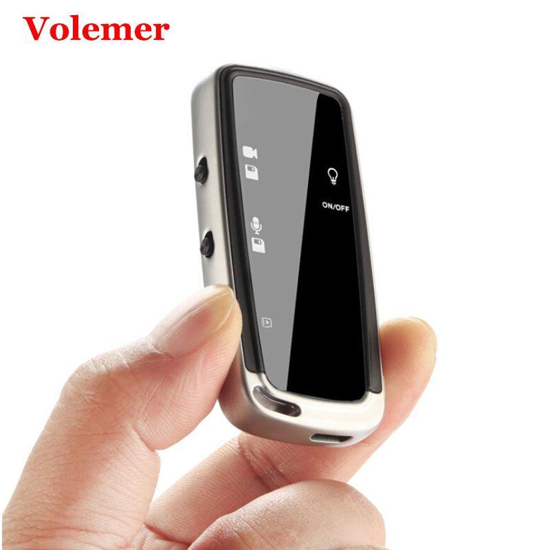 Volemer Mini caméra Portable Micro caméra porte-clés stylo numérique vidéo enregistreur vocal petit Dv Dvr Cam lecteur Mp3 Mini baladeur