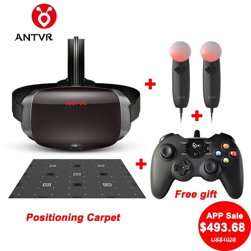 ANTVR 2T Kit2 2K PC VR Headset 3D Helmet VR Glasses Controllers 9Pcs Positioning Carpet Competitor For HTC Vive VR 3D Glasses