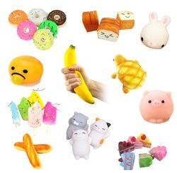 New Squishy Mini Donut Key Chain Chocolate Noodles Sweet Roll Phone Charms Straps 1PCS STRESS Relife Squeeze Gift Kids Toys