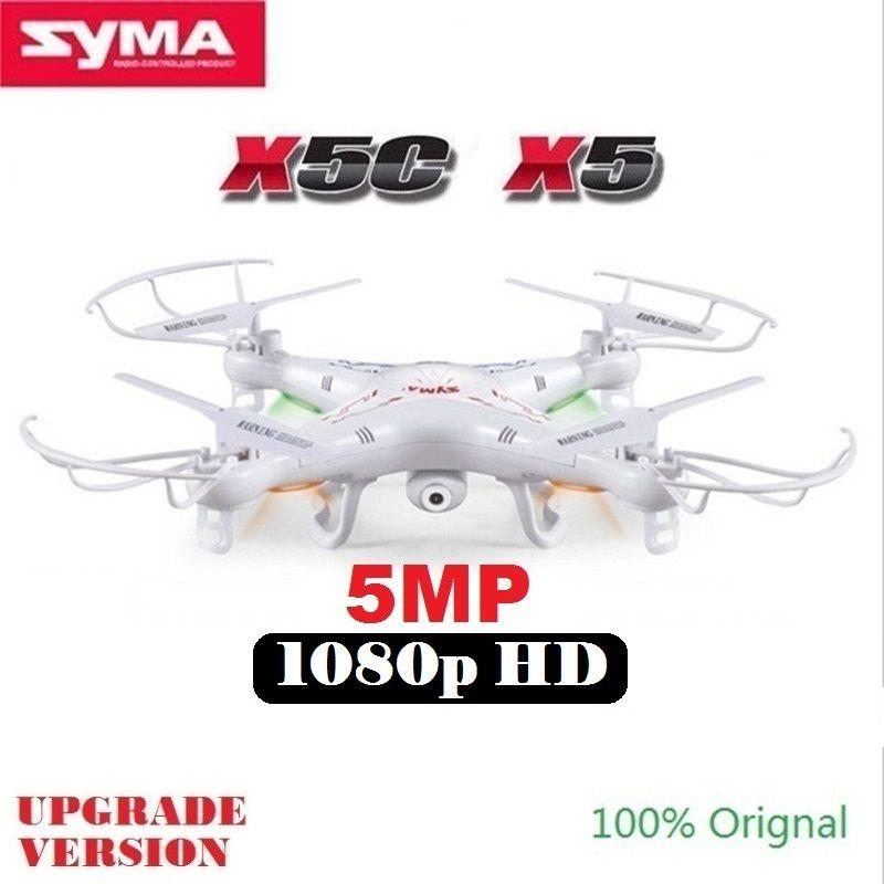 SYMA X5C X5 (Mise À Niveau Version) RC Drone Avec 5MP 1080 p HD Caméra 4CH 6-Axe Télécommande Hélicoptère Quadcopter Dron Enfants Jouets