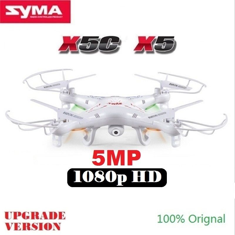 SYMA X5C X5 (Upgrade Version) RC Drone With 5MP 1080P HD Camera 4CH 6-Axis Remote Control Helicopter Quadcopter Dron Kids Toys