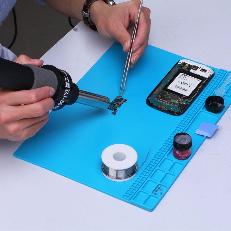 35x25 cm station de réparation de téléphone portable conception magnétique tapis de travail plate-forme de Maintenance de tampon d'isolation de soudure