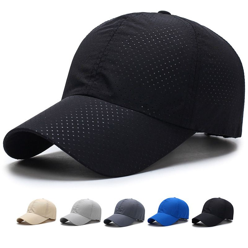 Pure Color Baseball Cap Dry Elastic Fabric Breathable Mesh Hat Men And Women Spring Summer Hats