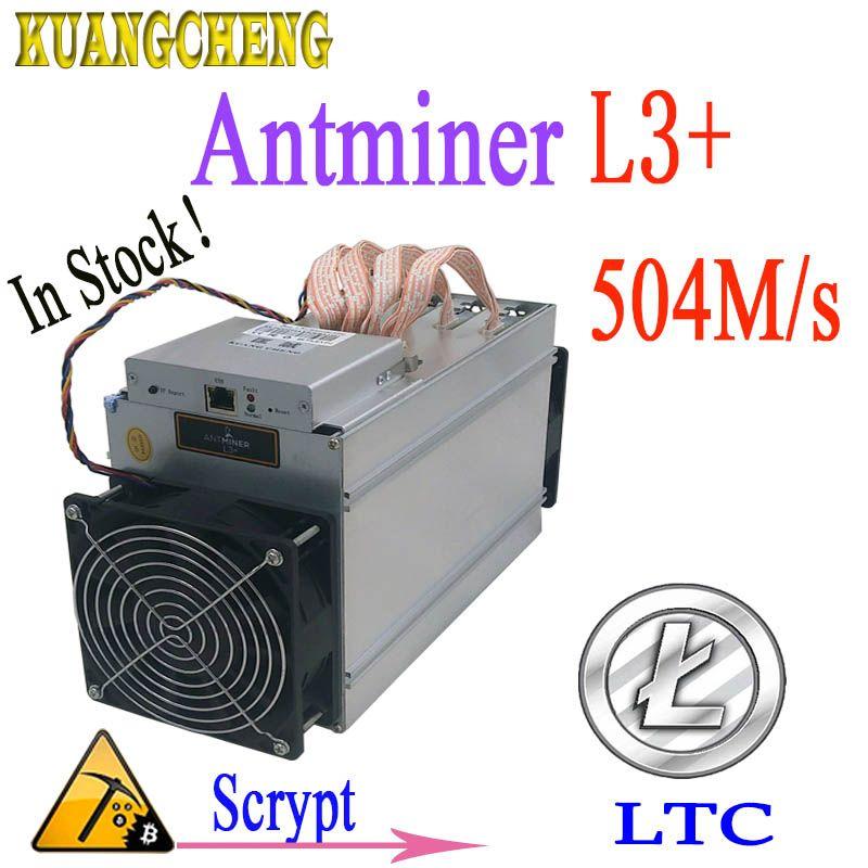 Verwendet ANTMINER L3 + 504 M 800 W Scrypt Asic miner LTC Bergbau Maschine ohne power Mehr wirtschaftlich als antminer s9 Z9 DR3 T9 A4 + A9