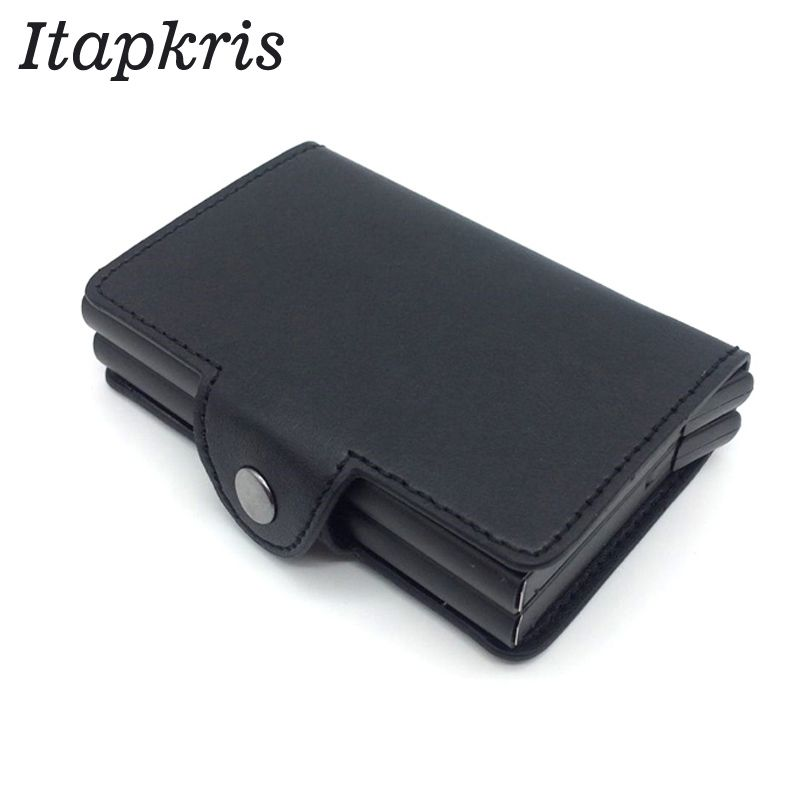 Men Automatic Credit Card Holder Travel Multi Pop up Blocking Protecting Money <font><b>Change</b></font> Case Aluminum Cover Porte Carte