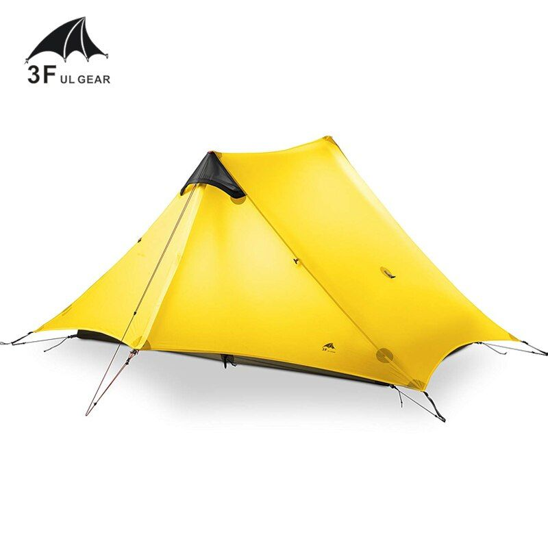3F UL Getriebe Lancer2 Ultraleicht 15D Silikon Beschichtet 2 Mann Zwei Person Rucksack Zelt 3 Saison Für Camping Wandern Trekking