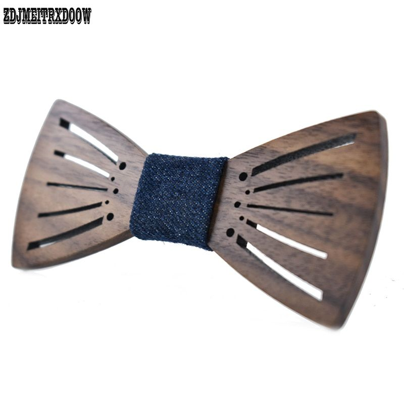 2017 New arrival carving Angel wings wooden bow tie Accessories Creative Wood Butterfly Mens tie 3 style