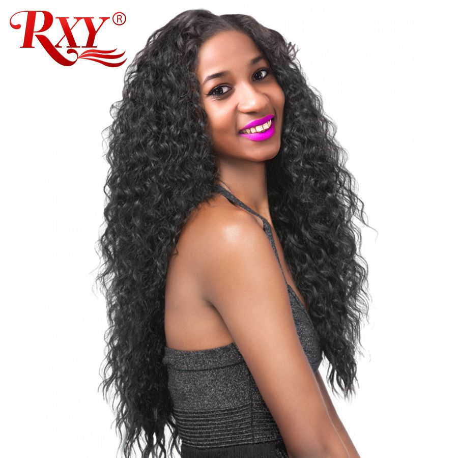RXY 150% Pre Plucked Full Lace Human Hair Wigs For Women Brazilian Deep Wave Full Lace Wigs Human Hair With Baby Hair Black wig