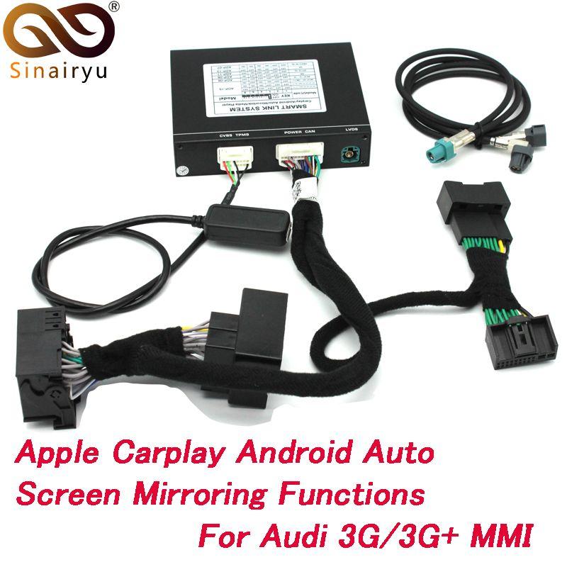 2019 neue IOS Auto Apple Airplay Android Auto CarPlay Box Für Audi A1 A3 A4 A5 A6 Q3 Q5 Q7 original Bildschirm Upgrade MMI System