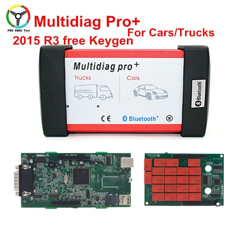 2015.R3 Multidiag Pro+ Diagnostic Tool Double Green PCB Multidiag OBD2 Scanner With/Without Bluetooth Do More Cars/Trucks
