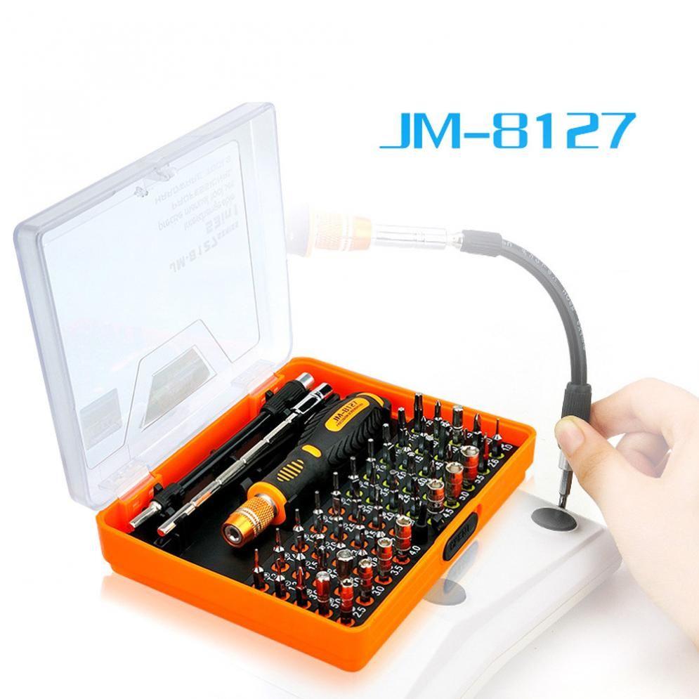 Précision 53 en 1 Multi-but Magnétique Jeu de Tournevis Démonter Outils Ménagers pour téléphone Pc JAKEMY JM-8127
