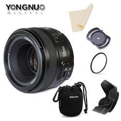 Yongnuo YN50MM F1.8 gran objetivo de enfoque automático para Nikon d7100 d3100 d5300 D7000 d90 d5200 d7200 d750 d610 50mm f1.8 lente