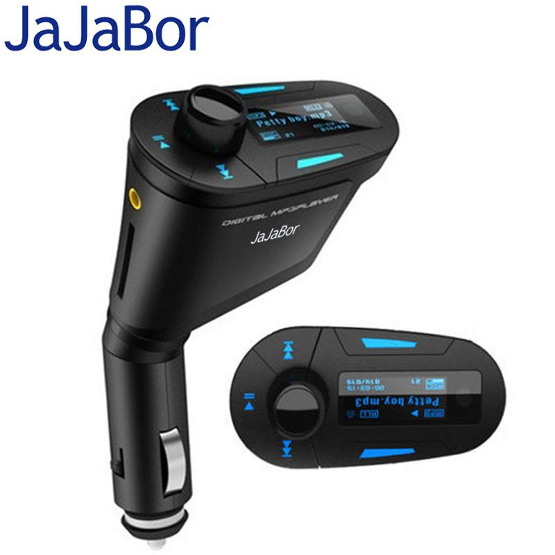 JaJaBor Car MP3 Player Wireless FM Transmitter Modulator Radio Adapter LCD Screen With LCD Remote Control Support U Disk SD Card