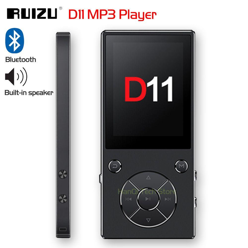 Neue Original RUIZU D11 Bluetooth MP3 Player Musik-Player 8 gb Metall Musik-Player mit Eingebauter Lautsprecher FM Radio Unterstützung TF Karte