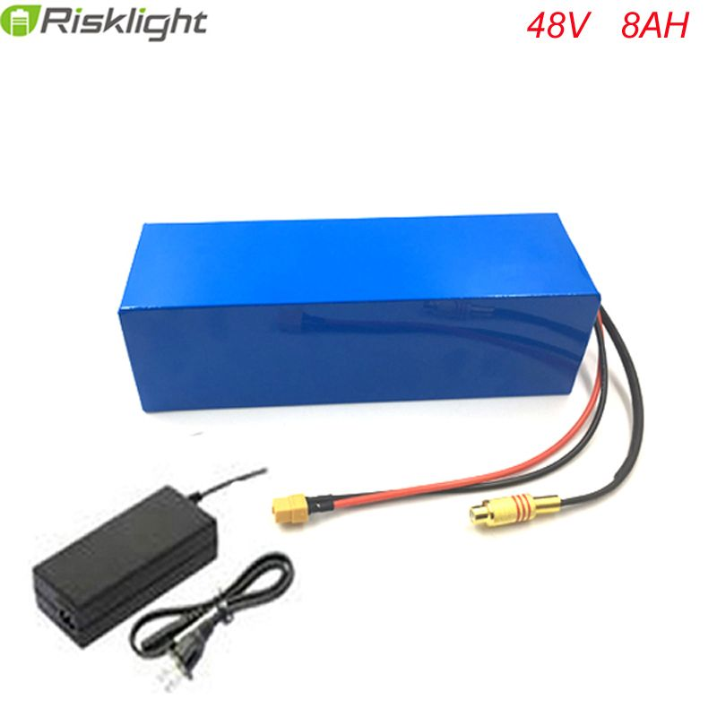 Free customes taxes 48V 500W 750W bafang Lithium Battery Pack 48V 8Ah Electric Bicycle Battery with 15A BMS and 54.6V 2A Charger