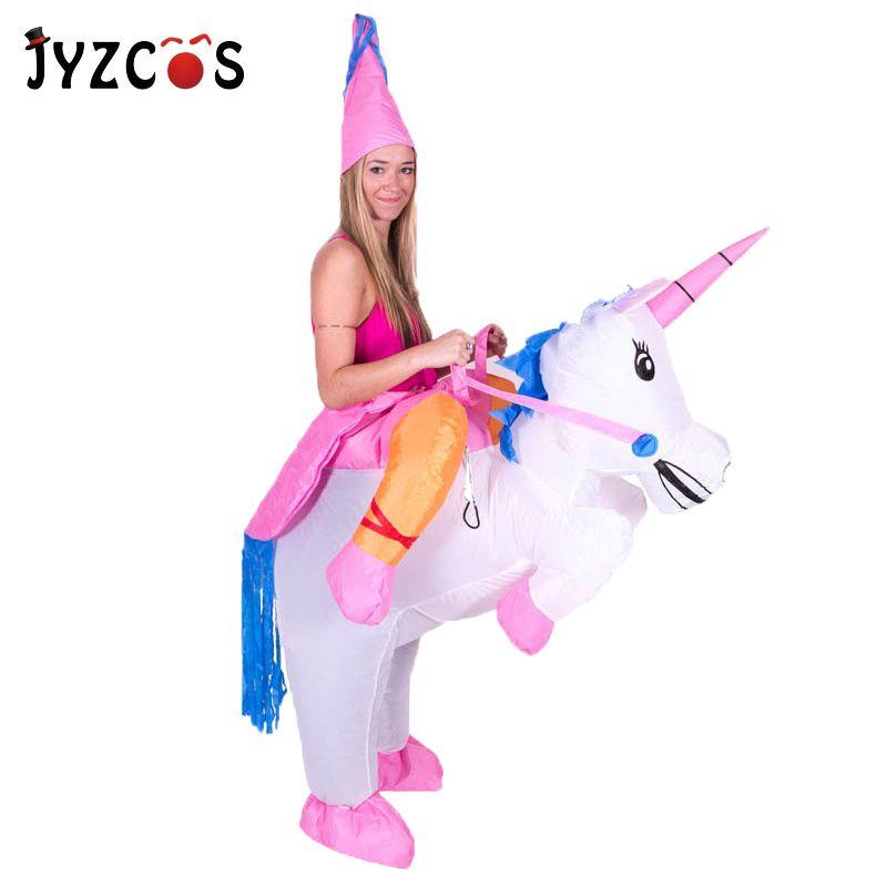 Licorne gonflable Costumes Carnaval princesse tenue pourim fête déguisement Halloween Costumes pour enfants femmes hommes adulte