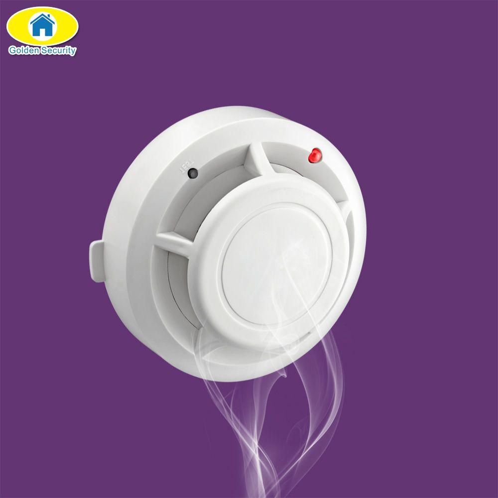 Détecteur de fumée d'incendie sans fil de sécurité dorée détecteur antivol KERUI système d'alarme accessoires d'alarme de sécurité industrielle